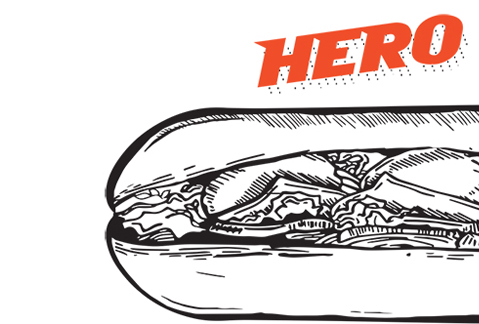 sort of a hero sandwich hero sandwich of course the world thinks a ...